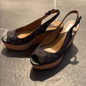 Coach Ankle Strap Sandals 7.5 B